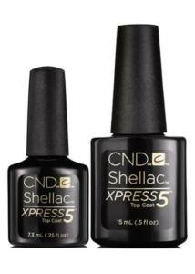 SHELLAC színek XPress5 Top Coat - Shellac Villám Fedőfény - 5 perc alatt leoldható - 7,3 ml